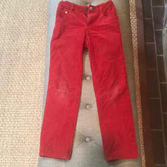 fb7932060 Mini Boden Pants | Kids Red Corduroy Boys Size 8 | Poshmark